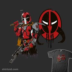 """""""Marvelous Bounty Hunter"""" by SilverBaX. A mashup of Boba Fett and Deadpool"""