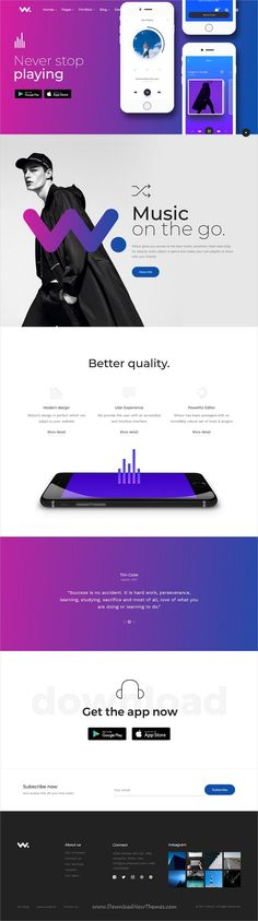 Wilson is clean and modern design multipurpose responsive WordPress theme for creative #app #landingpage website with 21+ niche homepage layouts download now..