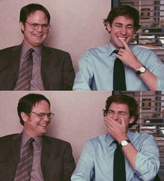 Rainn Wilson and John Krasinski. The Office Michael Scott, Best Of The Office, The Office Show, The Office Jim, The Office Dwight, The Office Serie, Creed The Office, Office Fun, Dundee