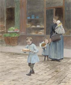 """""""The Birthday Cake""""    Victor-Gabriel Gilbert (1847-1933)  What an absolutely wonderful painting!"""