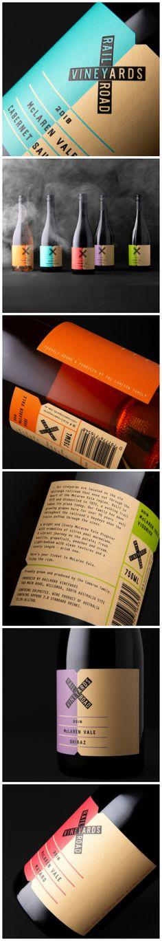 David Byerlee Design - Railroad Vineyards - World Brand Design Wine Packaging, Packaging Design, Brand Architecture, Wine Brands, Wine Design, Article Design, Wine And Spirits, Brand Design, Vineyard