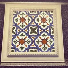 """40 Likes, 6 Comments - Cara Snyder (@bowandbranch) on Instagram: """"One of my favorite pieces, in my favorite frame. : : : #tile #sevilla #seville #amazingplace #home…"""""""