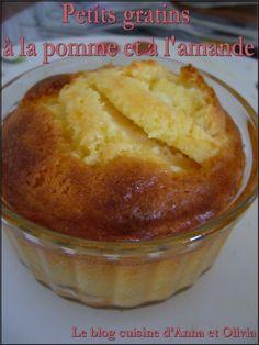 Petits gratins à la pomme et à l'amande #recette #dessert #facile50g de poudre d'amande 40g de sucre 50g de beurre 1cc de maïzena 1 oeuf 2 grosses pommes