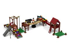 LEGO Ideas - Lego Playground for Families and Kids / BBQ / Seating