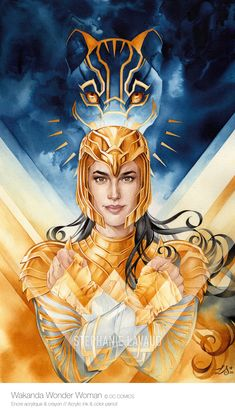 Wakanda #WonderWoman Wonder Woman, Princess Zelda, Fictional Characters, Lucky Star, My World, Diana, Fan Art, Illustration, Dibujo