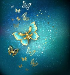 Illustration about Luxury gold butterflies on a blue textural background. Illustration of element, computer, background - 49688568 Old Paper Background, Butterfly Background, Butterfly Wallpaper, Butterfly Art, Luxury Background, Phone Screen Wallpaper, Cellphone Wallpaper, Wallpaper Backgrounds, Banner Printing