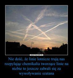 Nie dość, że linie lotnicze trują nas rozpylając chemikalia tworzące linie na niebie to jeszcze zabrali się za wywoływanie szatana – Polish Memes, Very Funny Memes, Dead Memes, Haha, Nostalgia, Humor, Pictures, Darkness, Chistes
