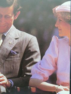 March 29, 1983 Charles and Diana at a reception by 40,000 school children from 400 local schools at Newcastle, Australia