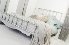 Galvanised Steel Pipe and Industrial Scaffolding Fittings Kingsize Bed - Bespoke Urban Furniture by www.inspiritdeco.com