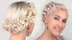 Prom Hair Tutorial Updo, New Concept! - Do you want to hairstyle prom like prom hair tutorial updo? Talking about hairstyle trends, hair cutting style and Wedding Hairstyles For Medium Hair, Formal Hairstyles, Vintage Hairstyles, Cool Hairstyles, Vintage Updo, Fairy Hairstyles, Bridal Hairstyles, Medium Long Hair, Medium Hair Styles