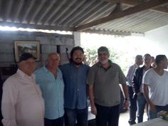 Maurício, Ti, Alencar, Jamir, Glória, vereadores de Santa Isabel e o médico Dr. Salomão.