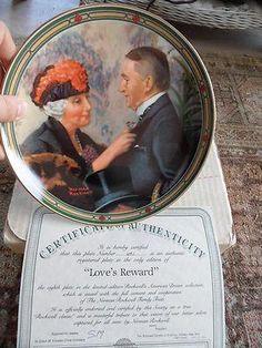 Norman Rockwell Plate; Love's Reward #691 NIB 8th/Final In American Dream Ser
