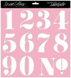 Teresa Collins Designs - Signature Essentials Collection - 12 x 12 Stencil - Numbers at Scrapbook.com