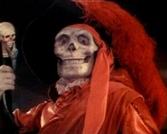 "Phantom of the Opera"" – 1925 movie adaptation.   Lon Chaney, Sr. as the Phantom of the Opera in disguise as the 'Red-Death' from the Edgar Allan Poe novel of the same name. #skull #art"