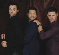 Jared Padalecki, Misha Collins, and Jensen Ackles.