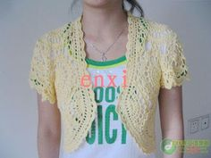 Free Crochet Chart for Lacy Summer Jacket Floral Motif