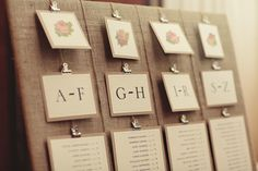 Place cards list, simple!