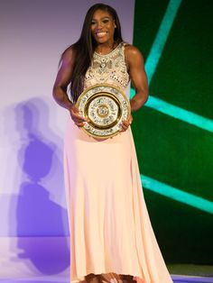 Serena Williams Dazzles In A Bejeweled Gown At Wimbledon Champions Dinner