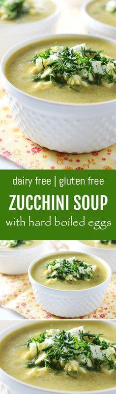 Dairy Free Zucchini Soup with Hard Boiled Eggs   MariaUshakova.com