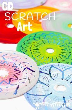 cd scratch art angebote kindergartenart projects