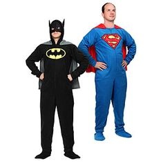 Can we talk about how this Batman-Onesie is only $30??  ThinkGeek :: Superhero Footie Union Suit