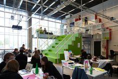 DesignLab is modern classroom at the IT University of Copenhagen.