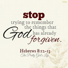 God has no memory of your failures or defeats. His mercy is new every morning! Stop beating yourself up over things God has forgiven you for. Www.facebook.com/theprettygirlslife