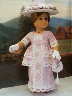Edwardian-Lavender-5-pieces-fits-American-Girl-Samantha-18-in-dolls
