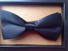 Premium Quality Pre-tied Black Satin Bow Tie. Adjustable. Great Reviews. Uk.