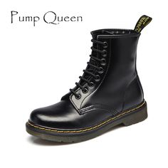 89da1d06a Women Boots Shoes Woman Ankle Boots 2018 Winter Genuine Leather Lace Up  Land Shoe Punk White Black Plus Size 42 44 zapatos mujer-in Ankle Boots  from Shoes ...