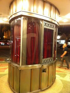 Art Deco ticket booth at Miracle Theater, Coral Gables