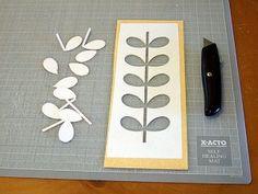 DIY stencil idea with Orla Kiely pattern