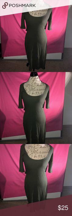 Gorgeous Dark Olive Open Back Dress Gorgeous open back dress Dresses Backless