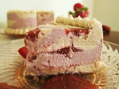 Fragrant Vanilla Cake: Raw Vegan Strawberry Rhubarb Cheesecake