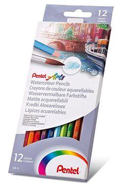 Pentel Buntstifte Aquarell-Buntstifte Lot de 12: Amazon.de: Bürobedarf & Schreibwaren
