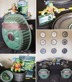 Trend Alert: {Incredibly Creative!} Teenage Mutant Ninja Turtles Party by contributor Tonya Coleman of Soiree Event Design!