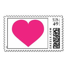 Hot pink heart postage stamp Thank you buyer from Long Branch, NJ! #heartwarestore => http://www.zazzle.com/hot_pink_heart_postage_stamp-172653965896740435?CMPN=addthis&lang=en&rf=238590879371532555&tc=pinHSShotpinkheartstamp