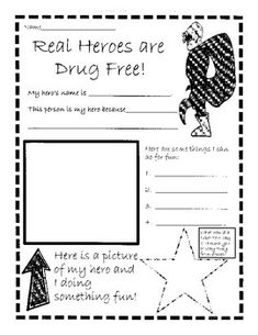 Here is a fun themed Red Ribbon Week poster/worksheet to use whole-class or as a station.  Great to use if your school is having a super hero dress-up day during Red Ribbon Week!