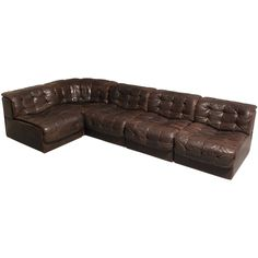 De Sede DS-11 seating corner in patchwork leather | From a unique collection of antique and modern sectional sofas at https://www.1stdibs.com/furniture/seating/sectional-sofas/