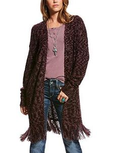 Ariat Women's Size Medium M Gray Studded Long Sleeve Knit Cardigan Wool Blend Outerwear Women, Outerwear Jackets, Western Tops, Western Style, Plus Size Tops, Knit Cardigan, Long Sleeve Tops, Clothes For Women, Sleeves