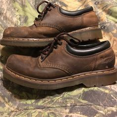 Dr Martens men's 10 pre loved! Men's size 10 Dr Martens Air Wair 5 eyes.  Broke in quite well with some scuffs but have plenty of life left!  Priced to sell! Dr. Martens Shoes
