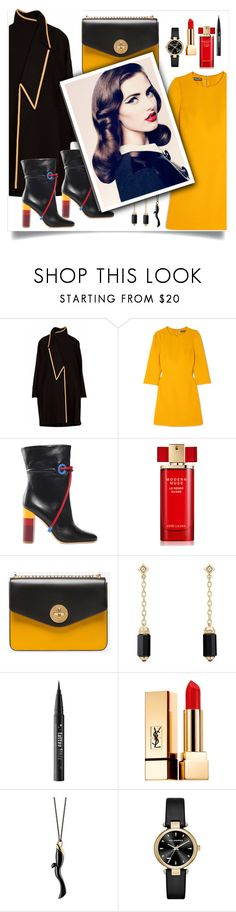 """Untitled #419"" by mizzura ❤ liked on Polyvore featuring Dolce&Gabbana, Malone Souliers, Estée Lauder, Bally, David Yurman, Kat Von D, Yves Saint Laurent, Monica Rich Kosann and Karl Lagerfeld"