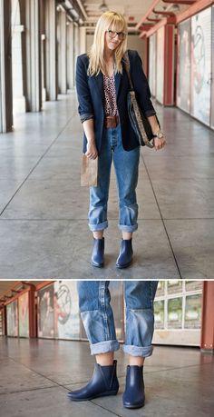 Loeffler Randall rain booties | rainy day cute outfit