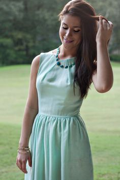 Mint Dress Summer Outfit