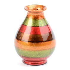 Red Stripe Color Infusion Mini Vase | Kirklands