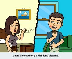 Long distance kiss