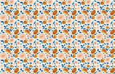 Indy Bloom Golden Blossom fabric by indybloomdesign on Spoonflower - custom fabric