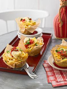 Spaghettinester in Muffinform (Rezept mit Bild) von italiamann | Chefkoch.de