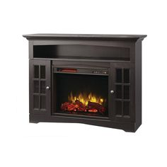 Ashurst 46 in. Media Console Infrared Electric Fireplace in ...
