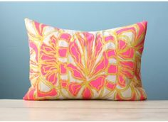 Hot Pink + Deli Yellow Pillow Cover